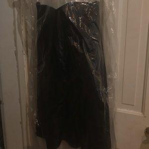 David's Bridal sleeveless black bridesmaid dress